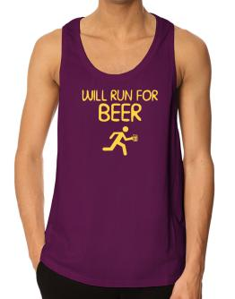 Will Run For Beer Tank Top