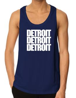 Detroit three words Tank Top