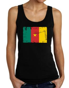 """ Cameroon - Vintage Flag "" Tank Top Women"