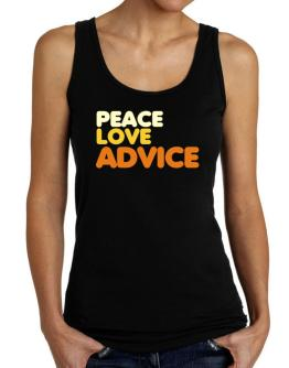 Peace Love Advice Tank Top Women