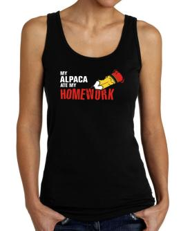 My Alpaca Ate My Homework Tank Top Women