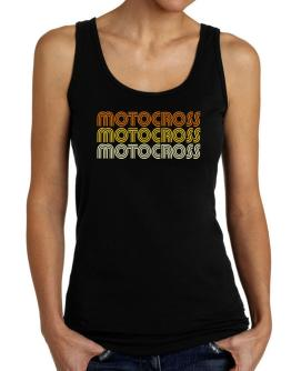 Motocross Retro Color Tank Top Women