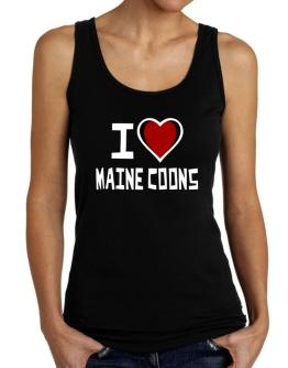 I Love Maine Coons Tank Top Women