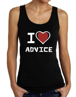 I Love Advice Tank Top Women
