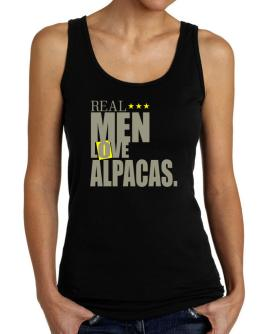 Real Men Love Alpacas Tank Top Women