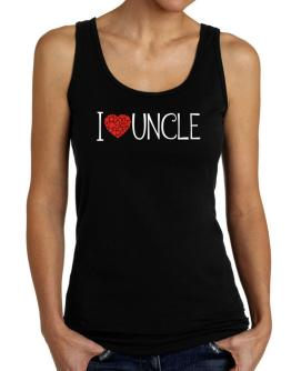 I love Auncle cool style Tank Top Women