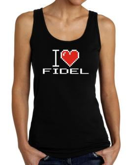 I love Fidel pixelated Tank Top Women