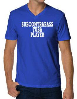 Subcontrabass Tuba Player - Simple V-Neck T-Shirt