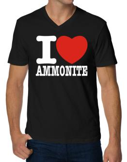 I Love Ammonite V-Neck T-Shirt
