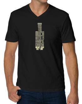 Drinking Too Much Water Is Harmful. Drink Broken Down Golf Cart V-Neck T-Shirt