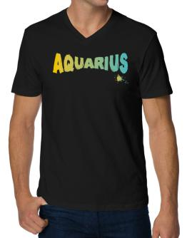 Aquarius V-Neck T-Shirt