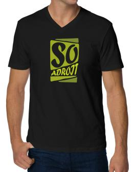 So Adroit V-Neck T-Shirt