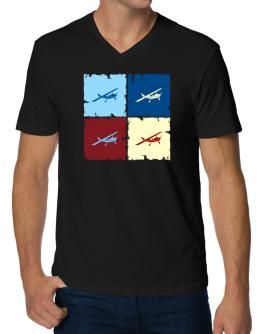 """ Aerobatics - Pop art "" V-Neck T-Shirt"