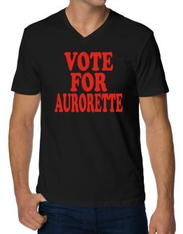 Vote For Aurorette V-Neck T-Shirt