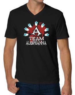 Team Aubrianna - Initial V-Neck T-Shirt