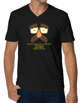 Cleverly Disguised V-Neck T-Shirt