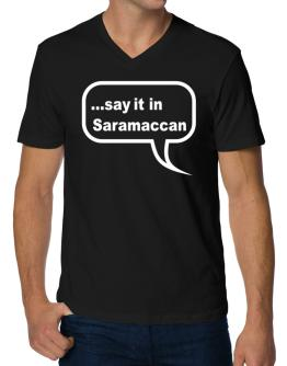 Say It In Saramaccan V-Neck T-Shirt