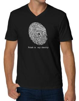 Polish Is My Identity V-Neck T-Shirt
