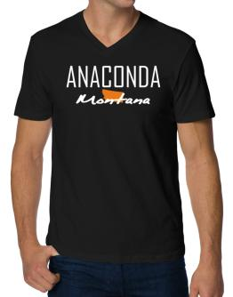 """ Anaconda - State Map "" V-Neck T-Shirt"