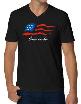 Anaconda - Us Flag V-Neck T-Shirt
