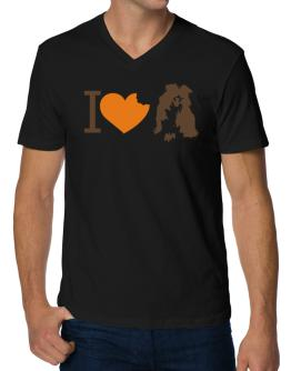 I love Australian Shepherds V-Neck T-Shirt