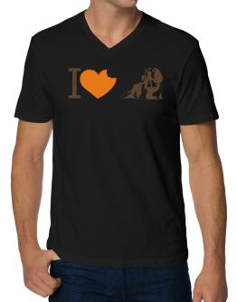 I love Beagles V-Neck T-Shirt