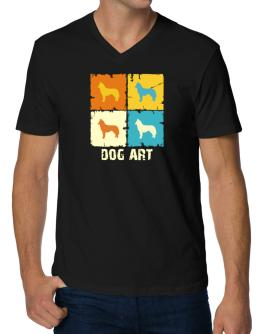 Siberian Husky Dog Art - Pop Art V-Neck T-Shirt