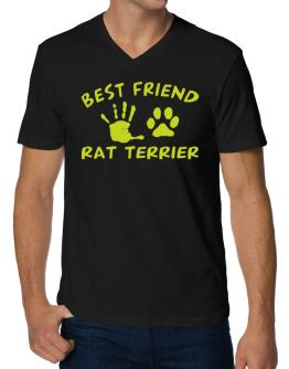 My Best Friend Is My Rat Terrier V-Neck T-Shirt