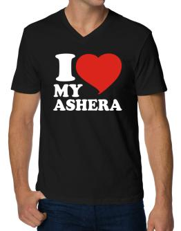 I Love My Ashera V-Neck T-Shirt