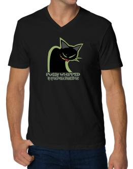 Pussy Whipped By My California Spangled Cat V-Neck T-Shirt