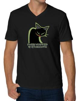 Pussy Whipped By My Ragamuffin V-Neck T-Shirt