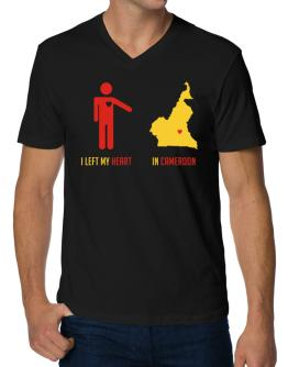 I Left My Heart In Cameroon - Map V-Neck T-Shirt