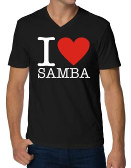 I Love Samba V-Neck T-Shirt