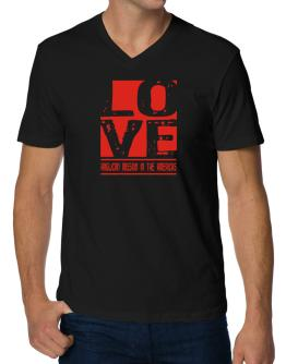 Love Anglican Mission In The Americas V-Neck T-Shirt