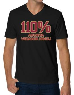 110% Advaita Vedanta Hindu V-Neck T-Shirt