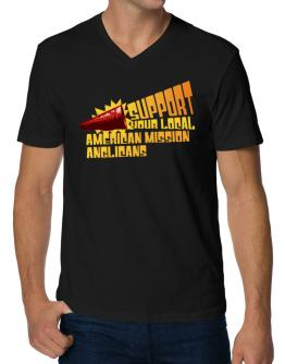 Support Your Local American Mission Anglicans V-Neck T-Shirt