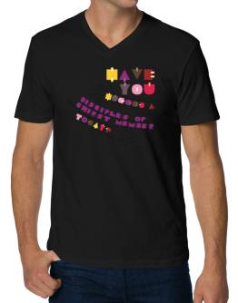 Have You Hugged A Disciples Of Chirst Member Today? V-Neck T-Shirt