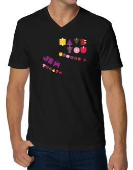 Have You Hugged A Jew Today? V-Neck T-Shirt