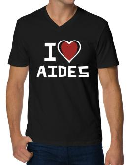 I Love Aides V-Neck T-Shirt