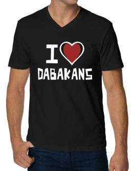 I Love Dabakans V-Neck T-Shirt