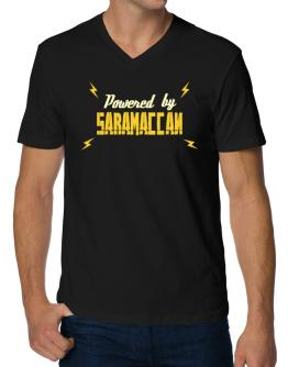 Powered By Saramaccan V-Neck T-Shirt