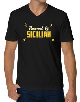 Powered By Sicilian V-Neck T-Shirt