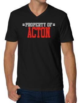 """ Property of Acton "" V-Neck T-Shirt"
