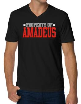 """ Property of Amadeus "" V-Neck T-Shirt"