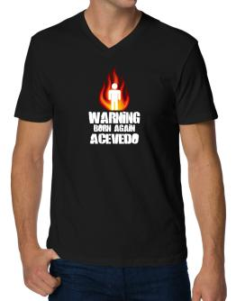Warning - Born Again Acevedo V-Neck T-Shirt