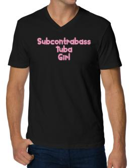 Subcontrabass Tuba Girl V-Neck T-Shirt