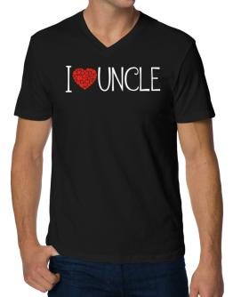 I love Auncle cool style V-Neck T-Shirt
