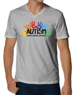 Autism support V-Neck T-Shirt