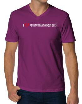 I love Advaita Vedanta Hindus Girls V-Neck T-Shirt