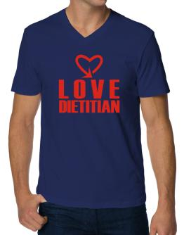 Love Dietitian cool style V-Neck T-Shirt